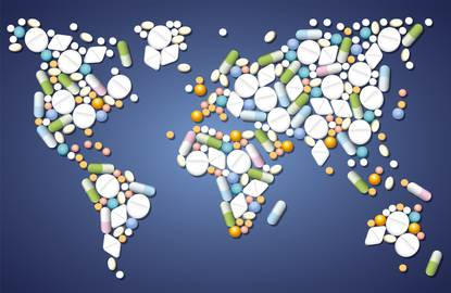World map medicines